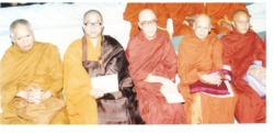 Sunim and Monks at the UN